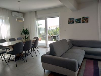 Photo for Villa Nikol****, new house with garden and BBQ.