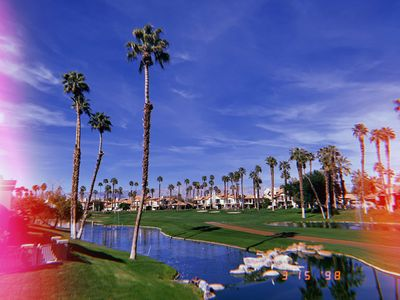 Photo for Golf course view! Perfect for Coachella!