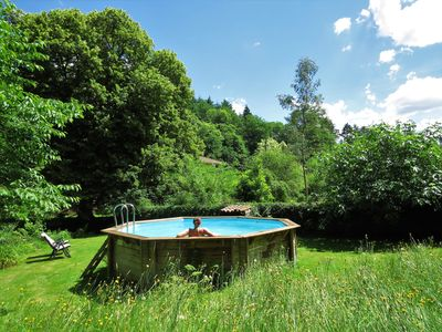 Photo for A charming rural gite for up to 2 people, 20 acres of grounds, wifi, by a river.