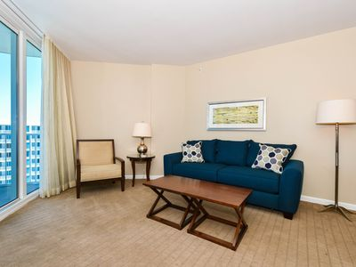 Photo for Resort 2-bed condo w/private balcony & lagoon pool view!