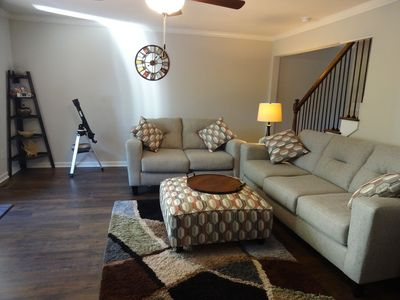 Photo for Serene Luxury Condo!! Low rent! High Speed WiFi! 2King Beds!  Walk to Downtown!!