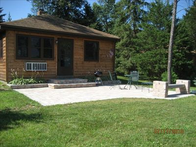 Patio and cottage front