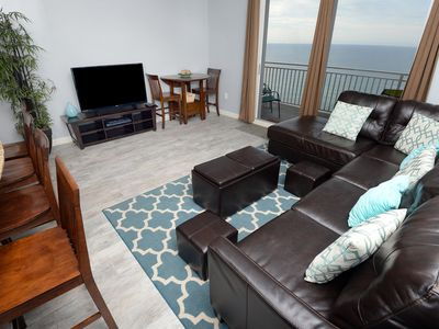 Photo for Beautifully Furnished Condo, Stunning Beach View, FREE Beach Service!