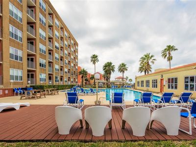 Photo for Gulfview ll 312: Large AFFORDABLE FAMILY condo next to SCHLITTERBAHN w/ POOL!