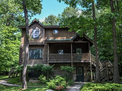 Photo for Centrally located log home only 5-10 minutes from DCL fun!