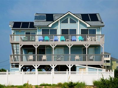 Photo for Welcoming Oceanfront Home in Salvo w/ Solar Heated Pool, Hot Tub, Amazing Views!