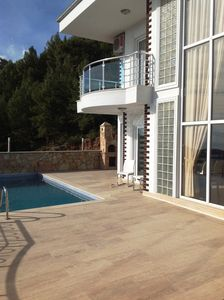 Terrace with private pool and barbeque