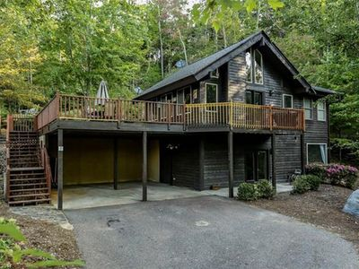 Photo for A Secluded Cabin With Mountain and Lake Lure Views ~ Hot Tub ~ Great views!