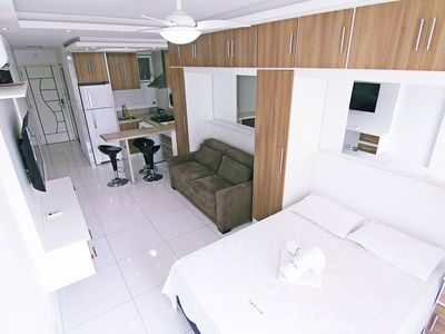 Photo for Large and renovated apartment on the block of Copacabana beach! Sea view