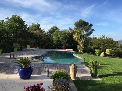 Photo for Luxurious modern villa at Le Castellet in a haven of peace