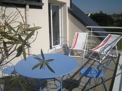 Photo for Apartment 200 meters from the beach and golf, with a large south facing terrace