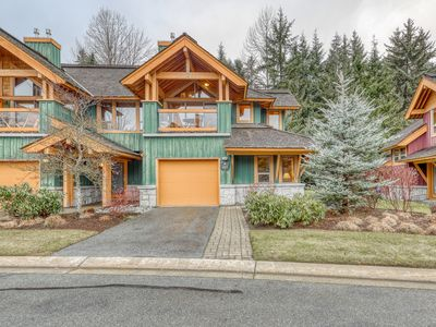 Photo for Stunning mountain retreat w/ private hot tub, forest views & central location!