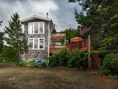 Photo for Private Beach Retreat On 1+ Acre of Wooded Land One Minute Walk To The Beach w/ Pool Table & Hot Tub
