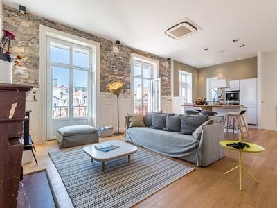 Photo for Altaya- 2 bedrooms- 110 m² in the heart of Biarritz + private parking