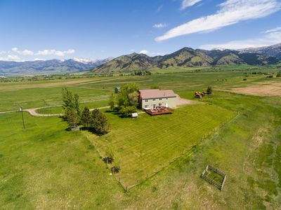 Photo for Magnificent 7 bedrooms on 20 acres w/360° mountain views, 5 miles to Bozeman!