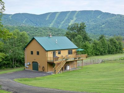 Photo for Quiet, private setting with panoramic mountain views on our small horse farm.