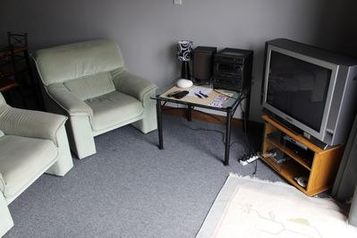T.V and armchairs