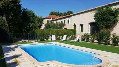 Photo for Ancient country-house AUDIBERT, Swimming pool, Camargue's doors.