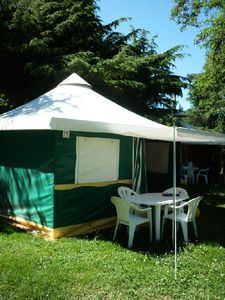 Photo for Camping *** The Apamea - Bungalow Toilé 3 Rooms 4 People