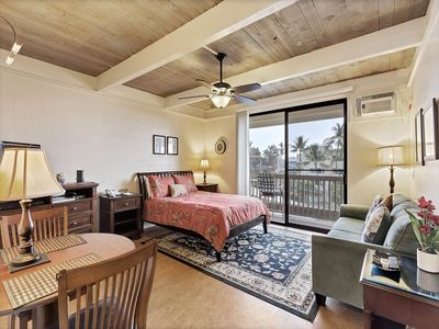Photo for Luxe Style+Homey Perks! WiFi, TV, Full Kitchen, Lanai, Ceiling Fan, AC–Kona Bali Kai 333