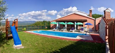 Photo for 4 Star Villa Belvedere with 2 bedrooms,2 bathrooms, great garden and private poo