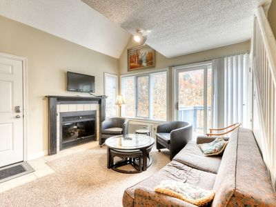 Photo for Dog-friendly condo w/ fireplace & shared hot tub/pool - walk to lift/shuttle!
