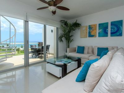 Photo for 2 bdr Penthouse OCEAN VIEW AT MAREAZUL! Private jacuzzi, best location!