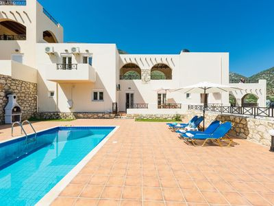 Photo for This 4-bedroom villa for up to 8 guests is located in Rethymnon and has a private swimming pool, air