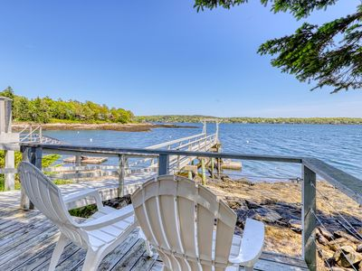 Photo for NEW LISTING! Charming oceanfront studio w/deck & dock in Linekin Bay Resort