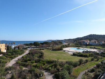 Photo for ONE BEDROOM APARTMENTWITH CABIN IN A RESIDENCE IN FRONT OF THE SEA WITH POOL