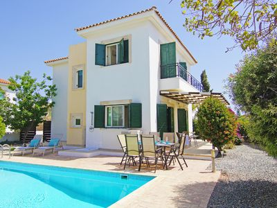 Photo for Karena Villa - Modern Family Villa with Private Pool, A/C in the quiet location of Ayia Thekla ! - Free WiFi