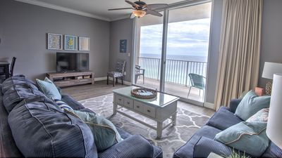 Photo for BEAUTIFUL GULF FRONT 1BD/2BA, sleeps 7, 11th floor condo renovated Sept. 2017
