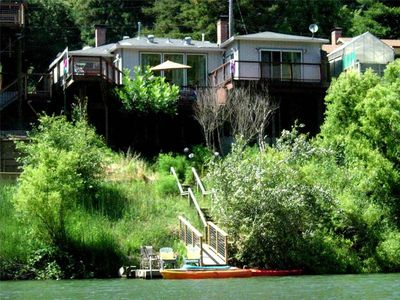 Photo for PARADISE: Walk to Guerneville | Riverfront | Fireplace | Hot Tub