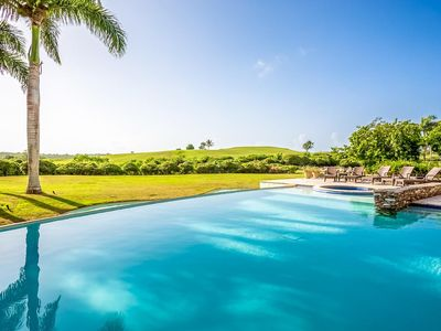 Photo for Private, Relaxing, Views of golf course, large garden and infinity pool, Gym access, Wifi