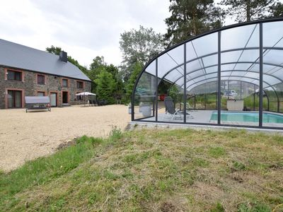 Photo for Cottage with covered swimming pool, in a quiet location, less than 10km from La Roche
