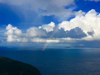 Our beautiful ocean view after a light tropical rain