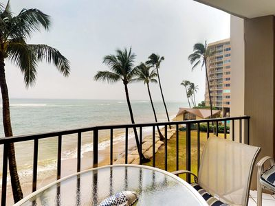Photo for NEW LISTING! Oceanfront condo w/sunset & ocean views, heated pool, big lanai