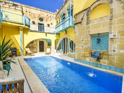Photo for Babouche, an artists' farmhouse of 17cty with pool in Gozo village Gharb center!