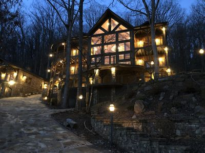 Photo for Stunning views! Luxury Lodge. Sleeps 27. Main lodge plus separate guest house.