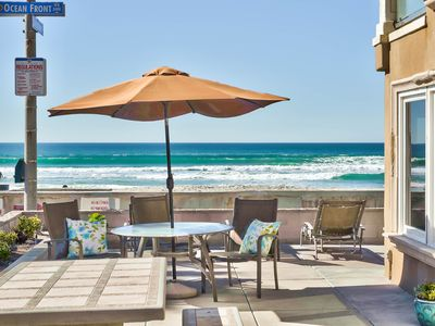 Luxurious Oceanfront Gem!  Sun and Sunsets/Surf and Sand/ Amazing Patio!