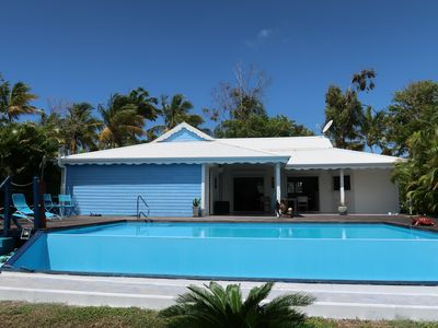 Photo for Wanda Bleue, 6-person Creole villa, swimming pool, open view, near beach