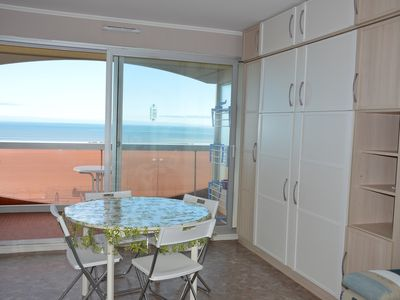 Photo for Bright and comfortable studio, balcony facing the sea, shops on foot!
