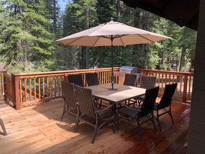 Photo for Chamberlands pool, beach and tennis - Comfy Cabin in the Forest
