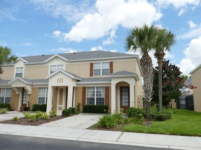 Photo for 3 bedroom, 3 bath Townhouse - private pool - gated community - 2 miles to Disney