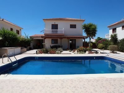 Photo for Stunning sea views and fabulous views of the Troudos mountains.