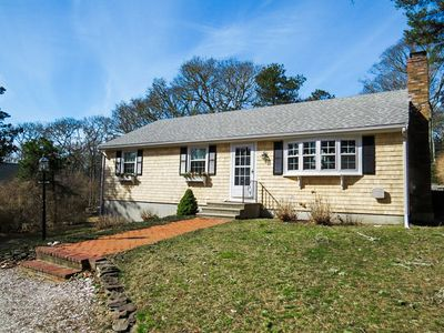 Photo for Charming 3 bedroom, 1.5 bath ranch offers open living space with sliders out to the deck to relax and enjoy your Cape Cod vacation.  Expansive backyard is perfect for a game of badminton or croquet .