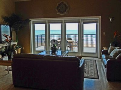 Photo for SUPER LOW PRICE 8/25-29 $250/NITE. BEACHFRONT, PRIVATE HEATED POOL&DOG FRIENDLY