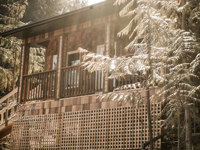 Photo for Brand new, Cozy One Bedroom Mountainside Cabin, Beautiful Views! Sauna Included!