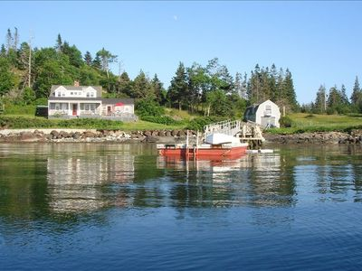 Photo for Waterfront Secluded Maine Island Cottage