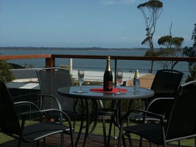 Photo for Somers Holiday accommodation, with stunning balcony seaviews  and private garden